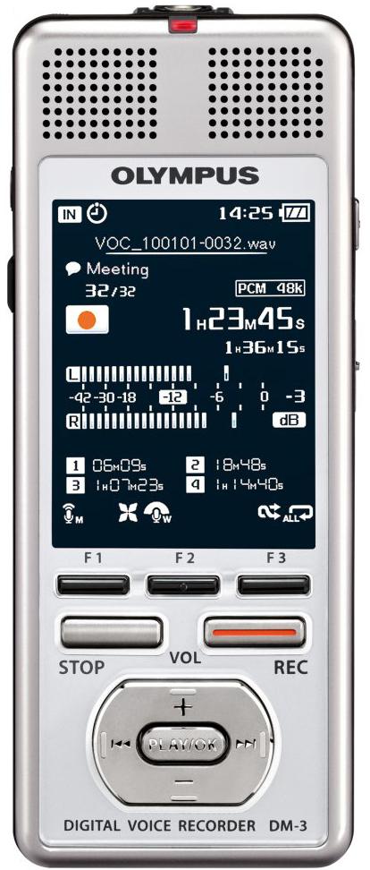Olympus DM-3 - цифровой диктофон (Silver)Цифровые диктофоны<br>Цифровой диктофон<br>
