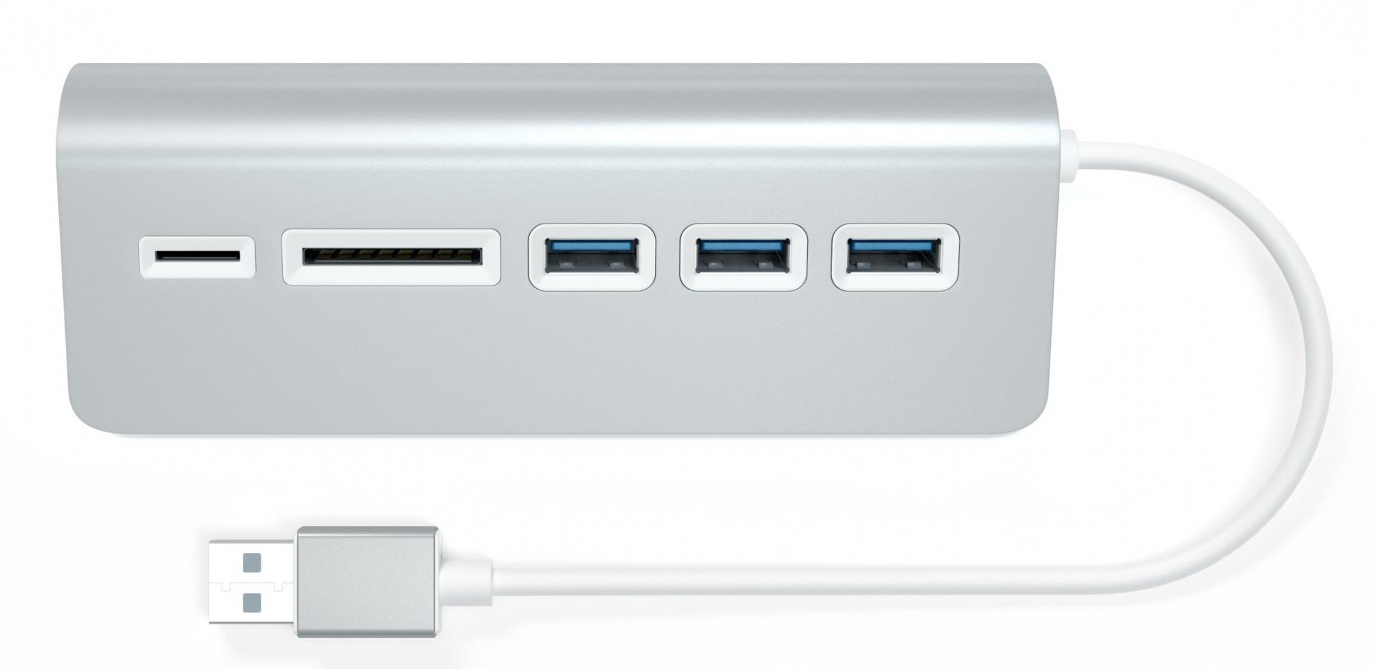 Satechi Aluminum USB 3.0 Hub & Card Reader ST-3HCRS