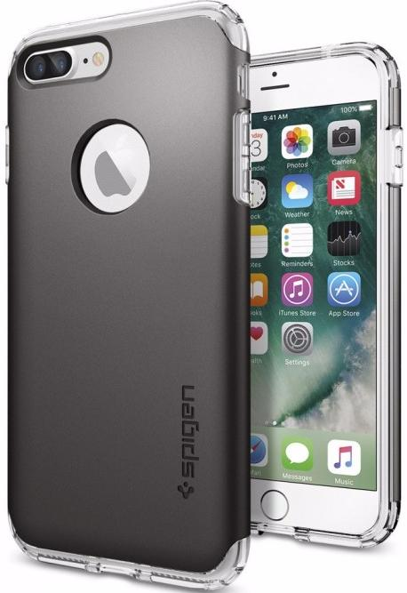 Spigen Hybrid Armor (043CS20697) - чехол для iPhone 7 Plus (Dark Grey) spigen hybrid armor 042cs20840 чехол для iphone 7 black onix