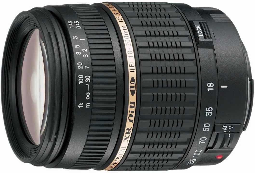 Tamron AF 18-200mm f/3.5-6.3 XR Di II LD Aspherical IF MACRO - объектив для фотоаппаратов Sony (Black)