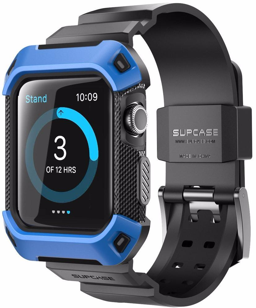 Supcase Protective Case - чехол-ремешок для Apple Watch 42mm (Blue)