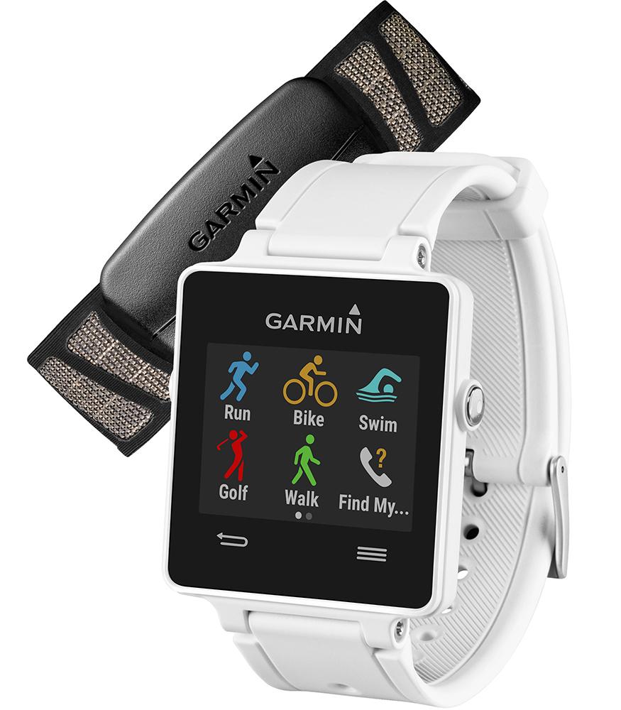 Garmin VivoActive HRM (010-01297-11) - спортивные часы с пульсометром (White)