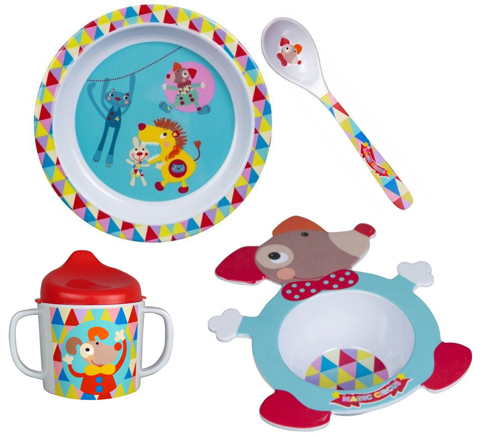 EbuLobo Волшебный цирк (04EB0029) - детский набор посуды из 4 предметов