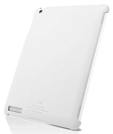 SGP Griff Series Leather Case (SGP07694) - чехол для iPad 2/iPad 3/iPad 4 (White) нд