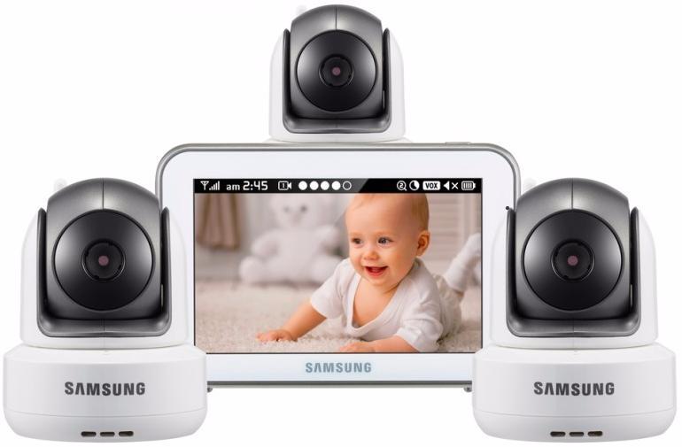 Samsung SEW-3043WPX3 - видеоняня на 3 камеры (White)