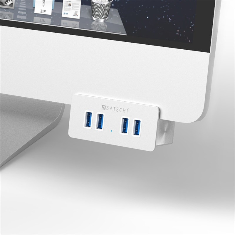 Satechi 4 Port USB 3.0 Aluminum Clamp Hub Premium