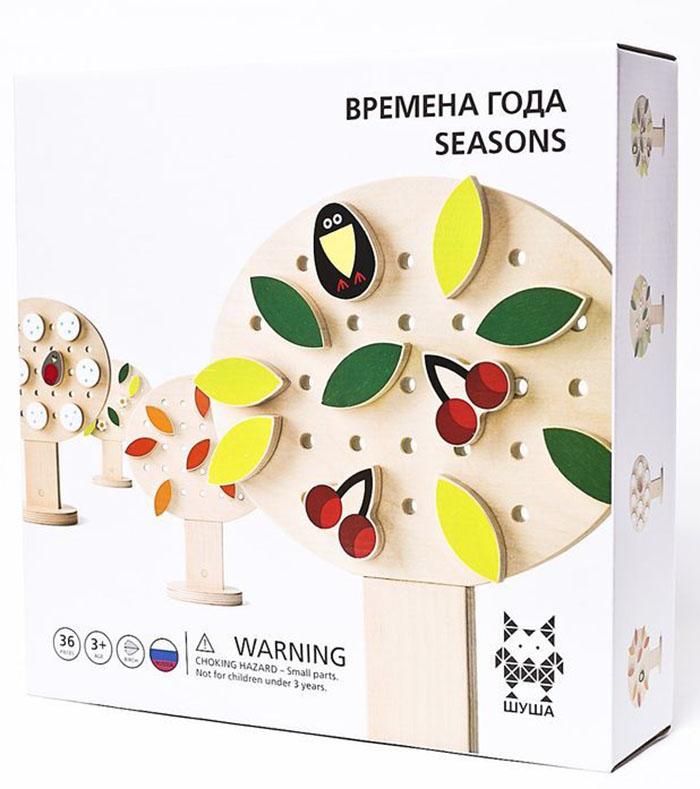 Shusha Времена года (ВГ) - конструктор деревянныйРазвивающие игрушки<br>Конструктор деревянный<br>