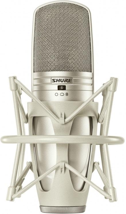 Shure KSM44A/SL (58781) - студийный конденсаторный микрофон с алюминиевым кофром и гибким креплением (Champagne)