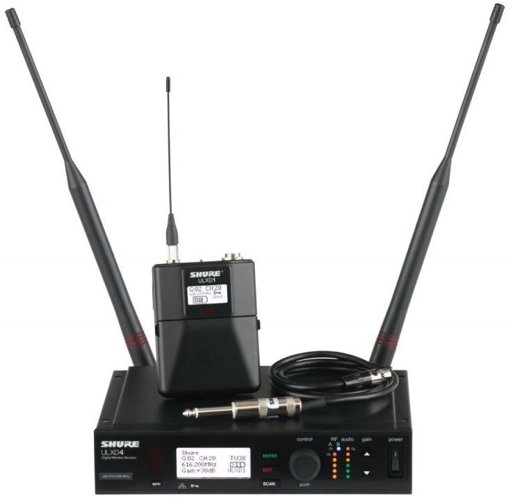 Shure ULXD14E K51 (A042098) - цифровая инструментальная радиосистема с портативным передатчиком ULXD1 (Black)