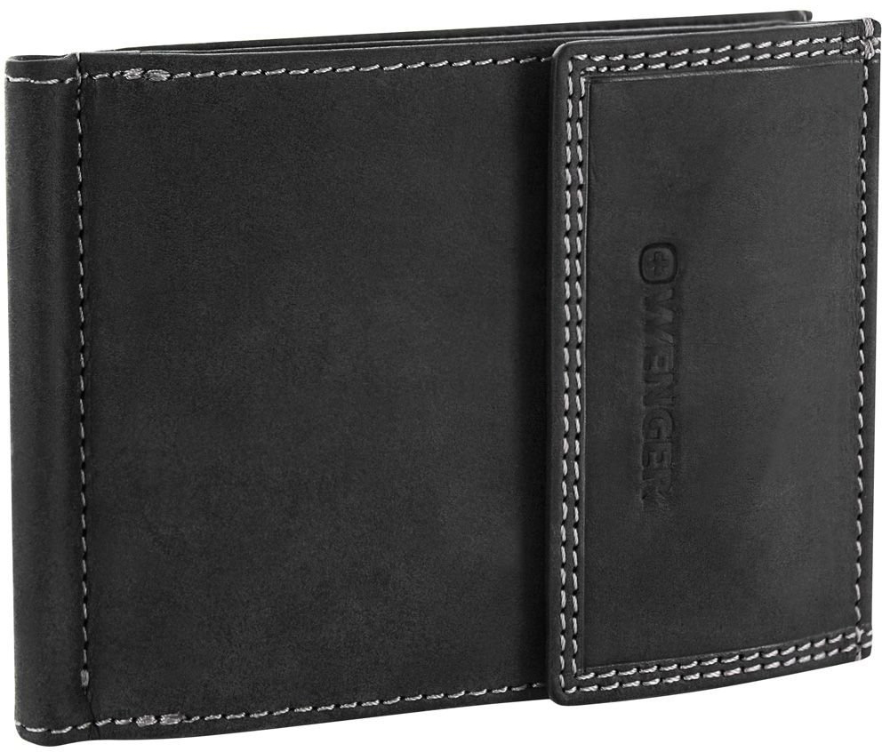 Wenger Le Rubli (W5-10BLACK) - портмоне с зажимом для денег (Black)Бумажники и кошельки<br>Портмоне<br>