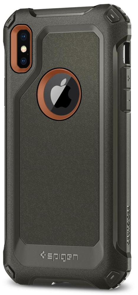 Чехол Spigen Pro Guard (057CS22651) для Apple iPhone X (Army Green)