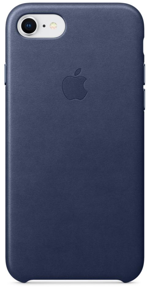 Чехол Apple Leather Case MQH82ZM/A для iPhone 7/8 (Midnight Blue)