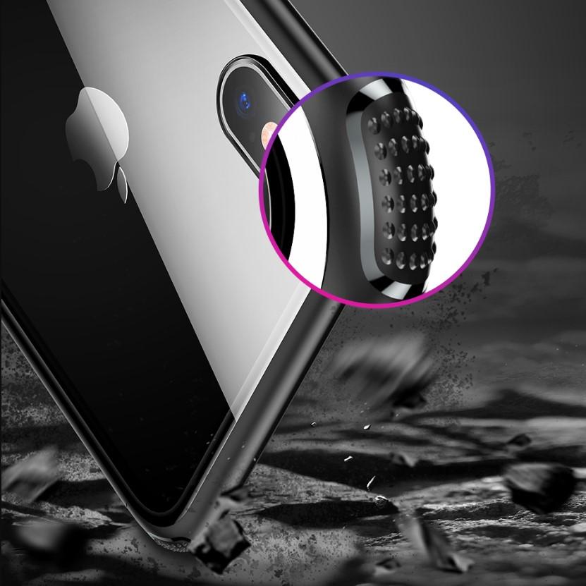Чехол Baseus See-through Glass (WIAPIPH65-YS01) для iPhone Xs Max (Black)