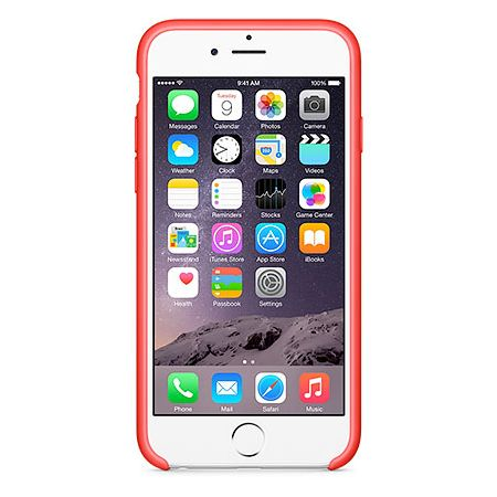 iPhone 6 Silicone Case (MGQH2ZM/A) - чехол для iPhone 6 (Red)