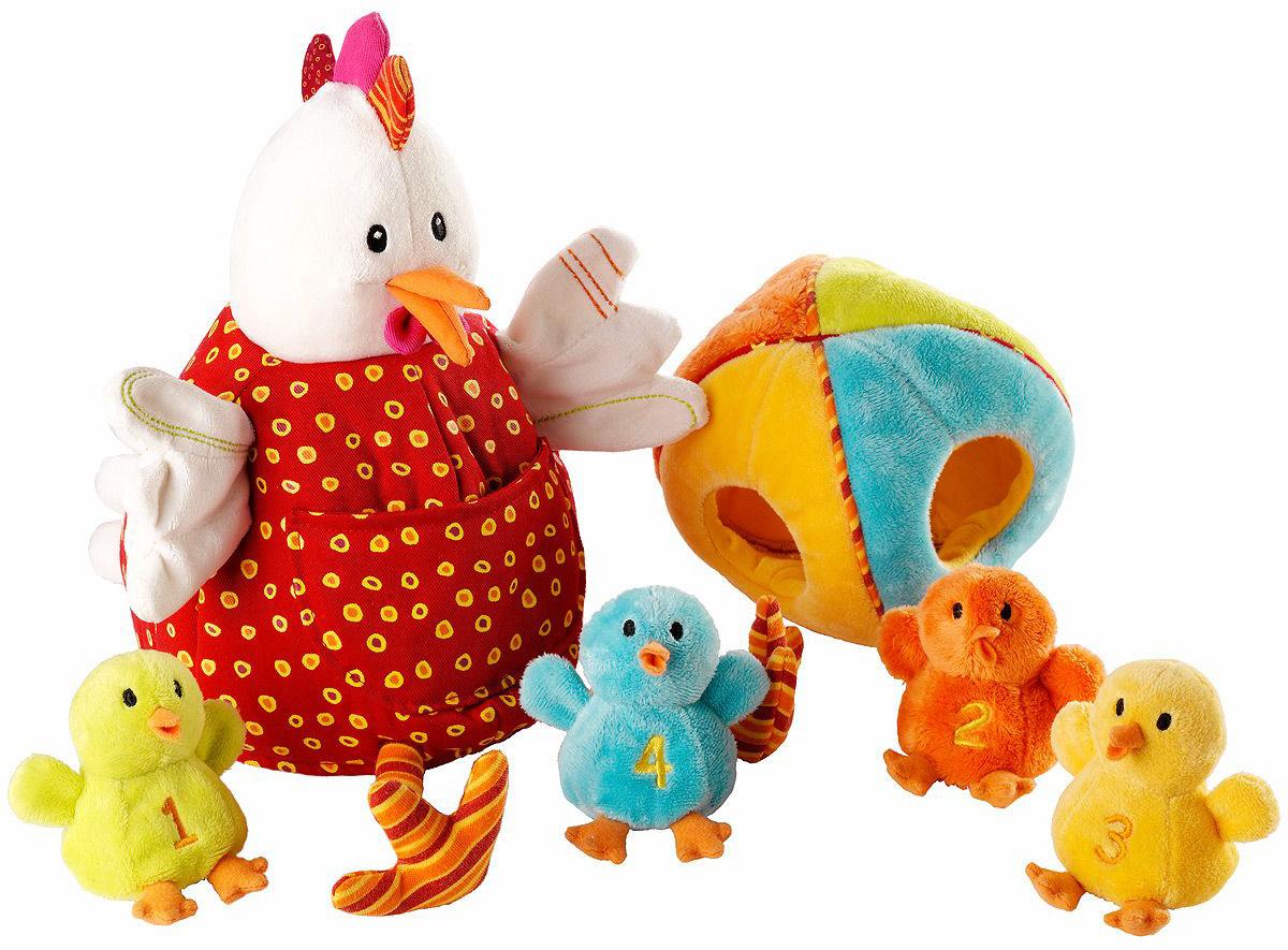 Lilliputiens Курочка Офелия и ее цыплятки (86635) - развивающая игрушка (Multicolor)