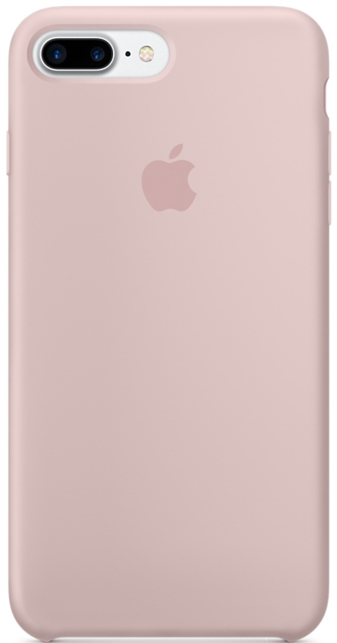Apple Silicone Case (MMT02ZM/A) - чехол для iPhone 7 Plus (Pink Sand)