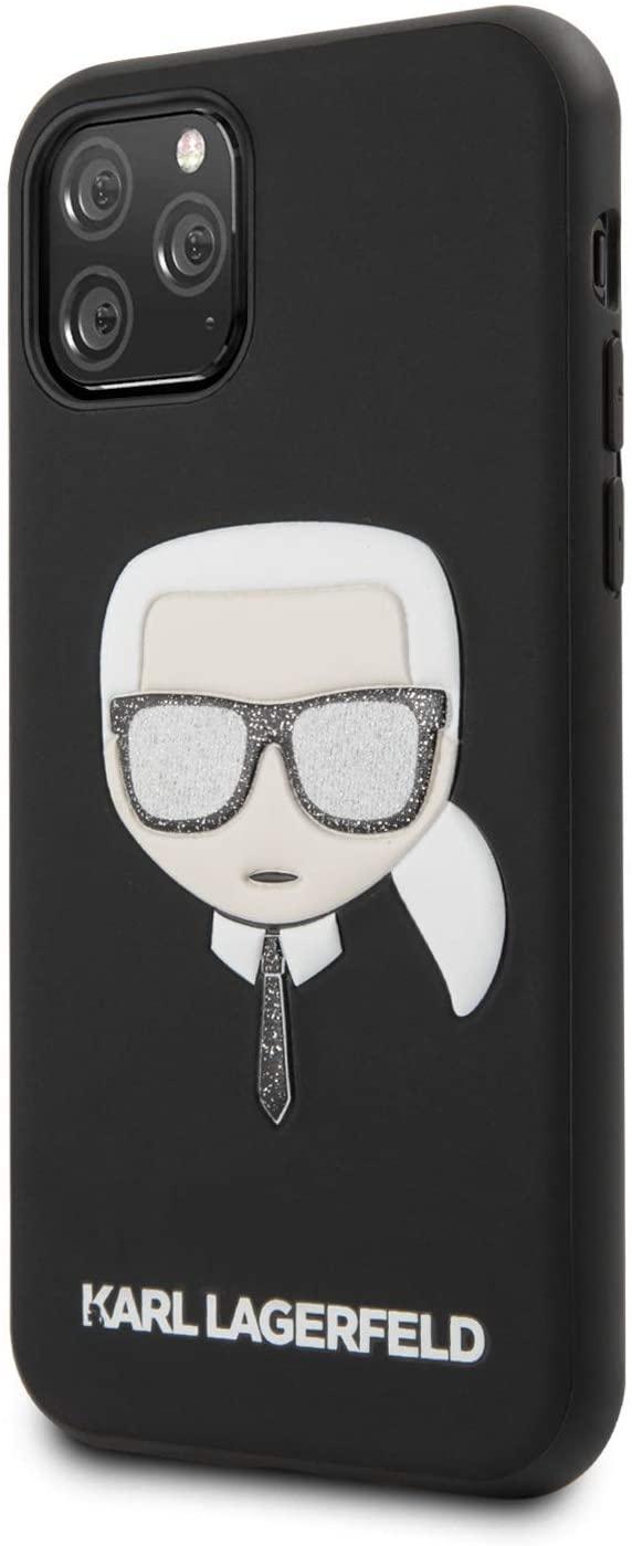 Чехол Karl Lagerfeld PU Leather Iconik (KLHCN58GLBK) для iPhone 11 Pro (Glitter Black) фото