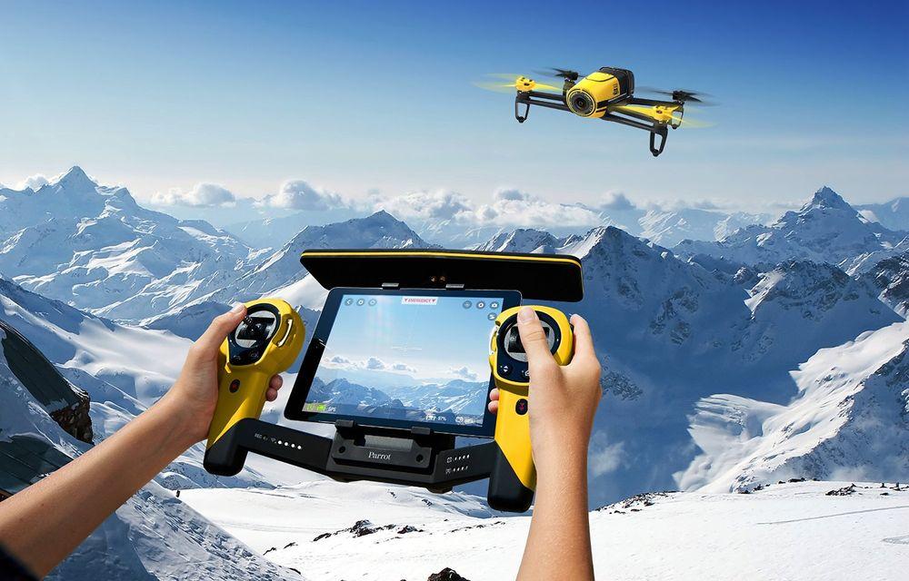 Parrot Bebop Drone + Skycontroller - квадрокоптер с пультом дистанционного управления (Yellow)