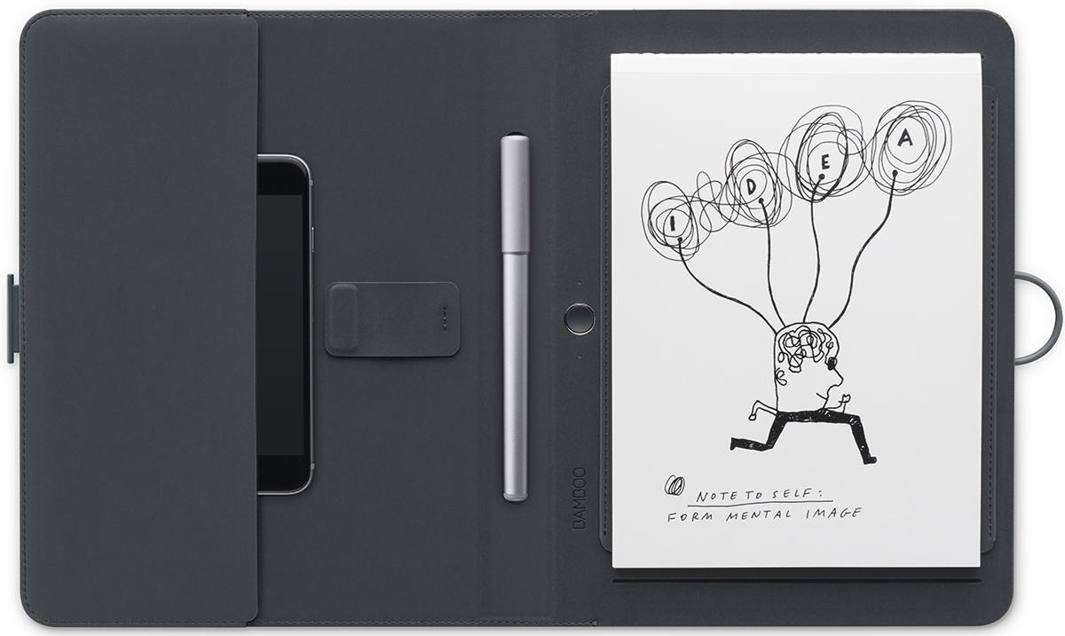 Bamboo SparkЦифровые ручки<br>Фолиант с карманом для гаджетов<br>
