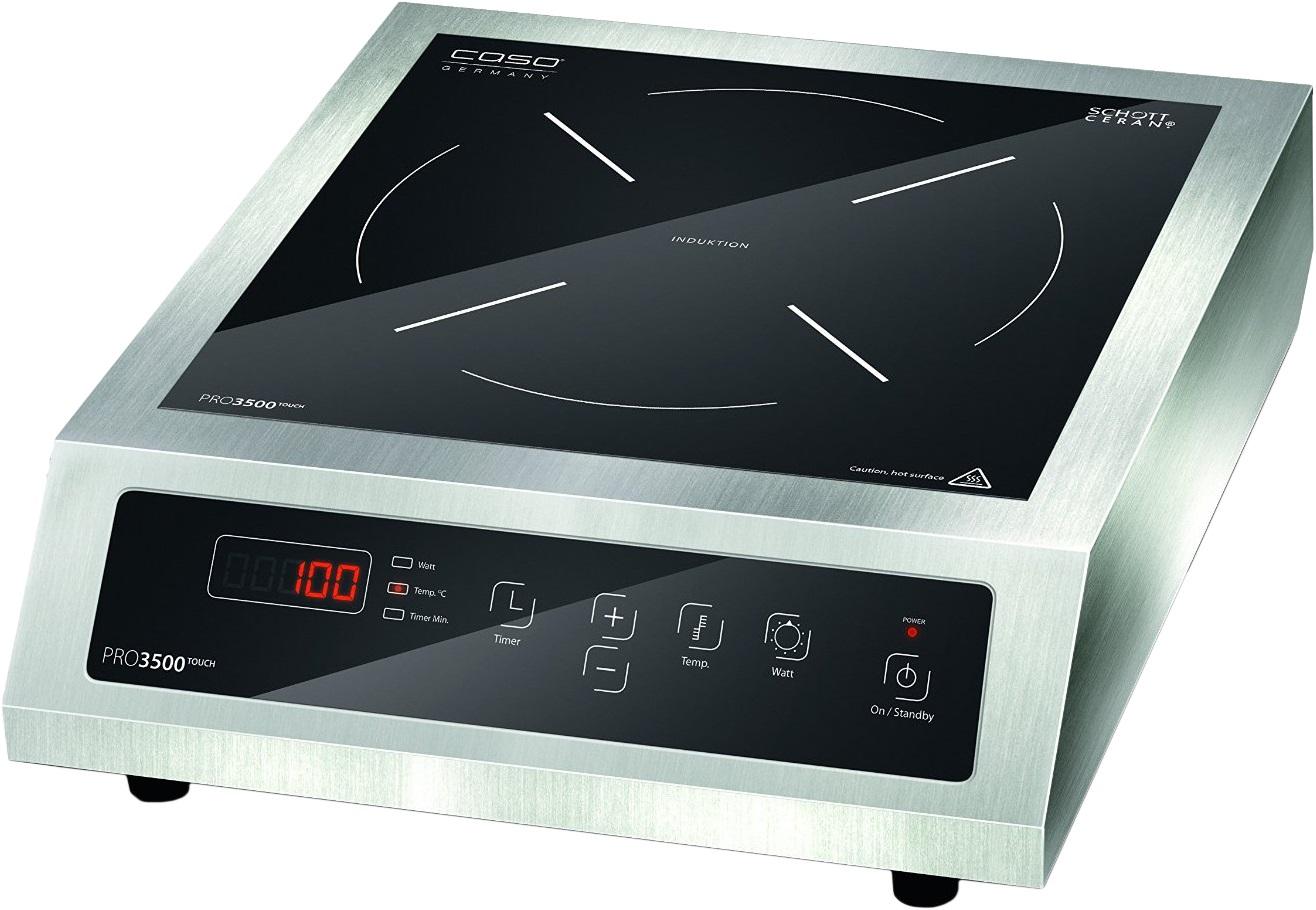 Caso Pro 3500 Touch - настольная индукционная плитка (Silver/Black)Настольные плиты и минипечи<br>Настольная индукционная плитка<br>