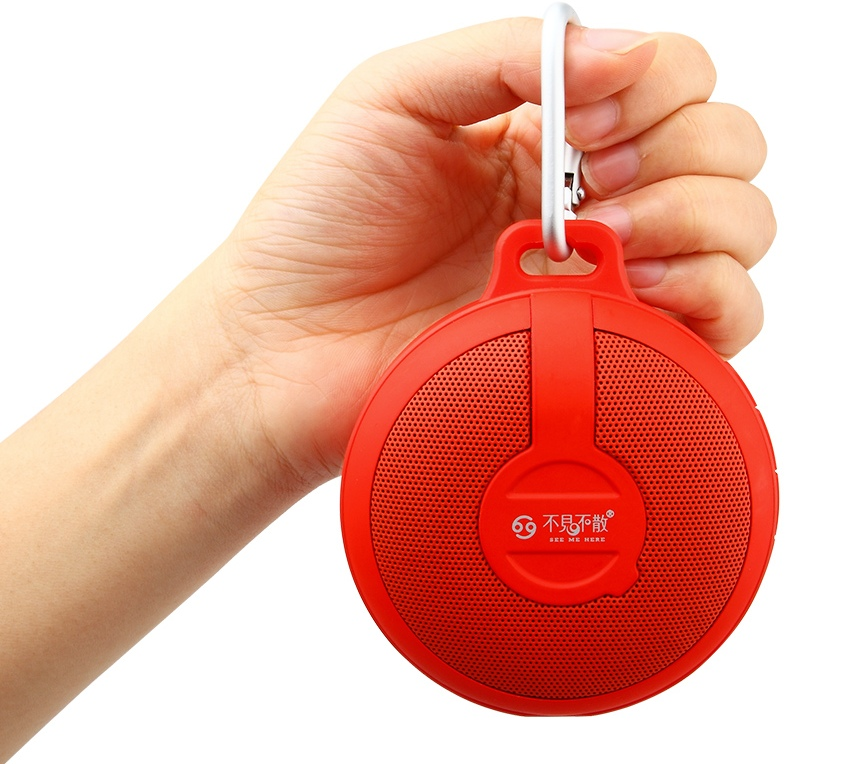 Портативный динамик GO BV210 Bluetooth wireless Portable Speaker Subwoofer (red)