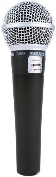 Shure SM58-LCE - кардиоидный динамический вокальный микрофон (Black) shure sm86 кардиоидный конденсаторный вокальный микрофон black