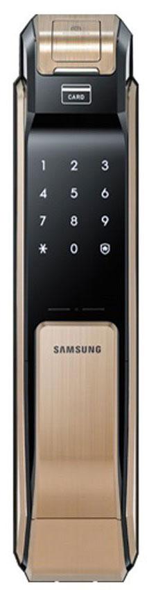 Samsung SHS-P718 XBG/EN - биометрический дверной замок с ручкой (Gold)