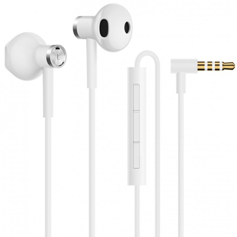Наушники с микрофоном Xiaomi Dual-Unit Half-Ear (White)