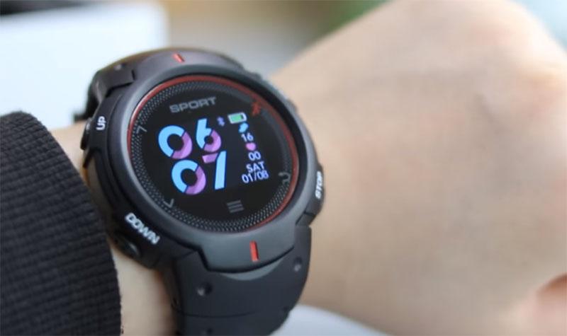 Умные часы NO.1 F13 (Black/Red)