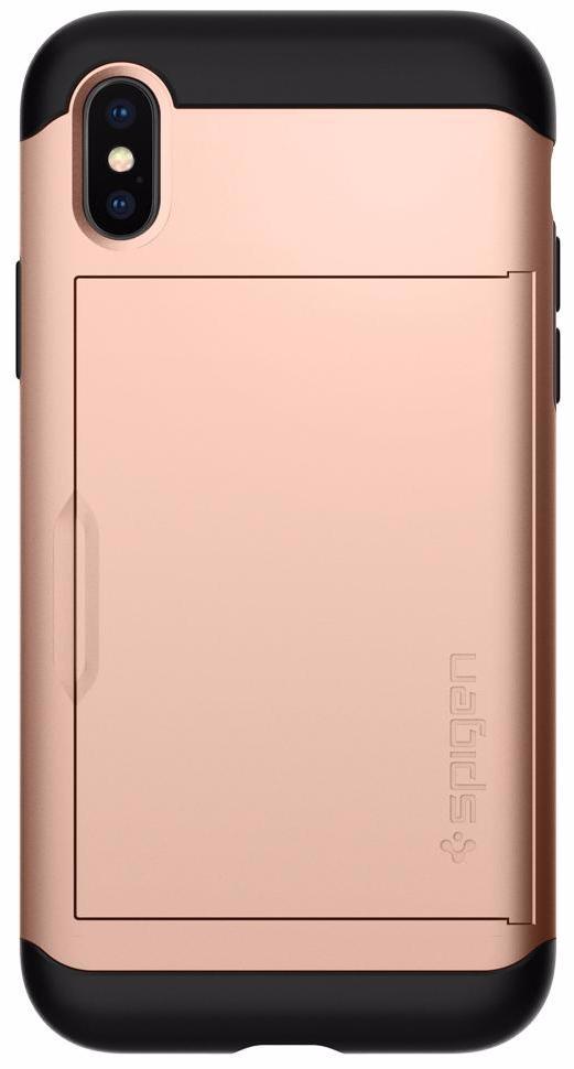 Чехол Spigen Slim Armor CS (057CS22157) для Apple iPhone X (Blush Gold) фото