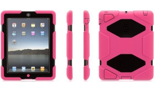 Griffin Survivor Extreme-Duty Case + WorkStand (GB02534) - защитный чехол и подставка для iPad 2/iPad 3/iPad 4 (Pink/Black)