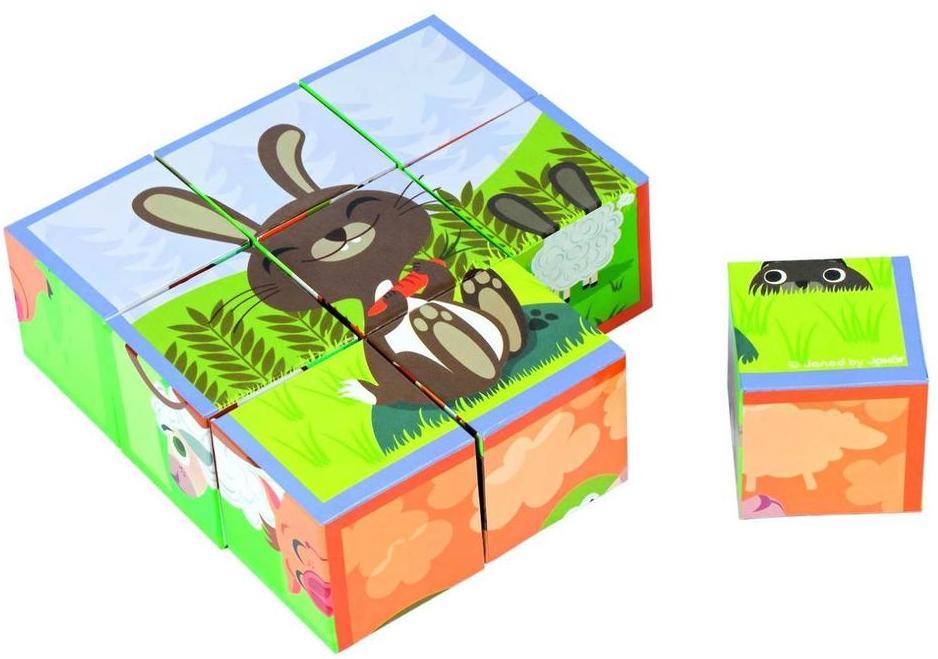 Кубики Janod Животные фермы (J02989) от iCover