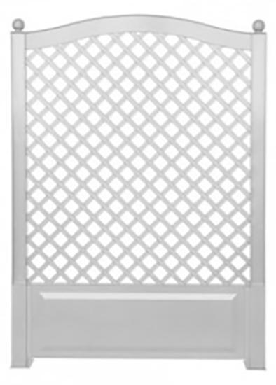 KHW 37701 - шпалера садовая 100 см со штырями для установки (White)Садовые арки, изгороди и шпалеры<br>Шпалера садовая<br>