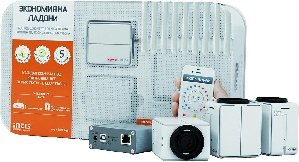 iNELS Экономия на ладони - набор для беспроводного управления отоплением посредством смартфона (5162) гидропароизоляция разумная экономия d 40м2