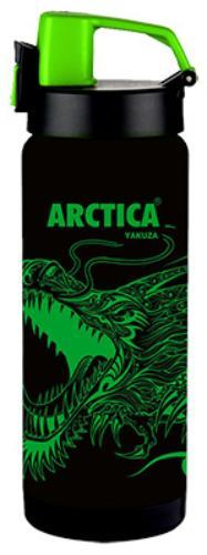 Арктика 0,5 л (702-500GD) - термос - сититерм (Черный/Зеленый)