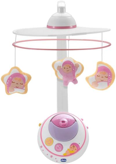 Мобиль Chicco Волшебные звёзды 2014 (Pink)Музыкальные игрушки, мобили<br>Мобиль<br>