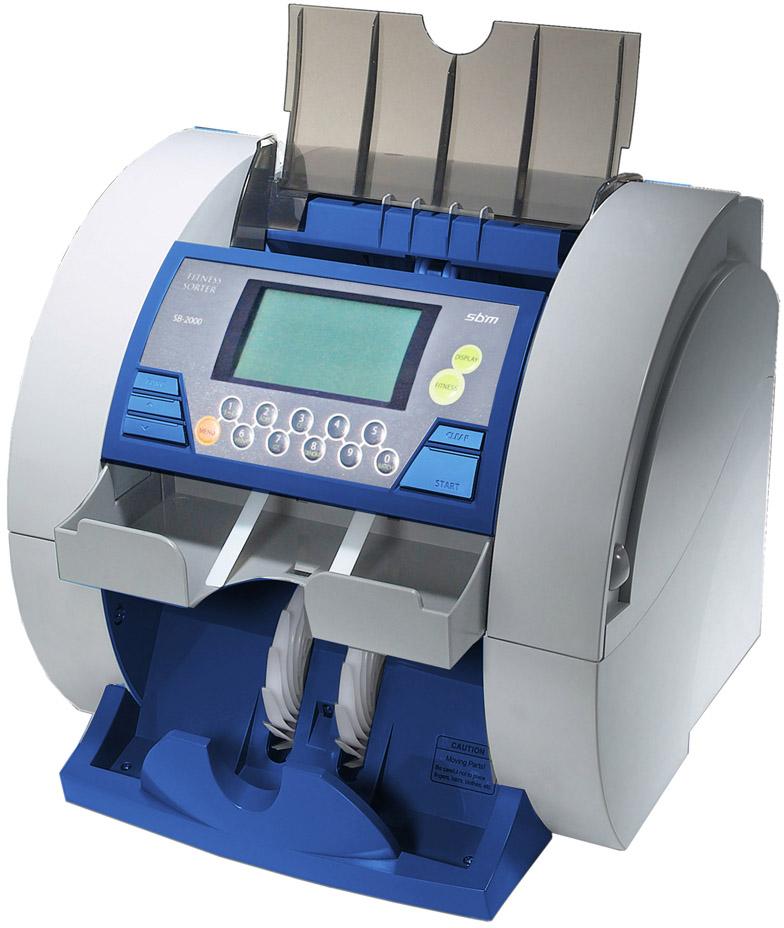 SBM SB-2000E Fitness USD/EUR/RUB - сортировщик банкнот (Blue)