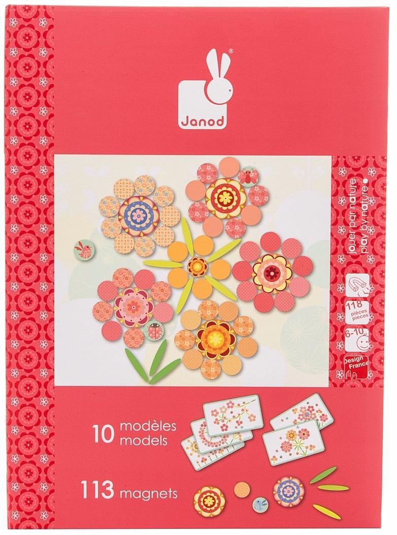 Janod Цветы (J02838) - магнитная книга-игра (Multicolor)