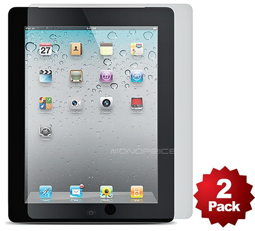 Monoprice Screen Protector 2-Pack w/ Cleaning (9501) - защитная пленка для iPad 2/iPad 3/Pad 4 (Transparent Finish)