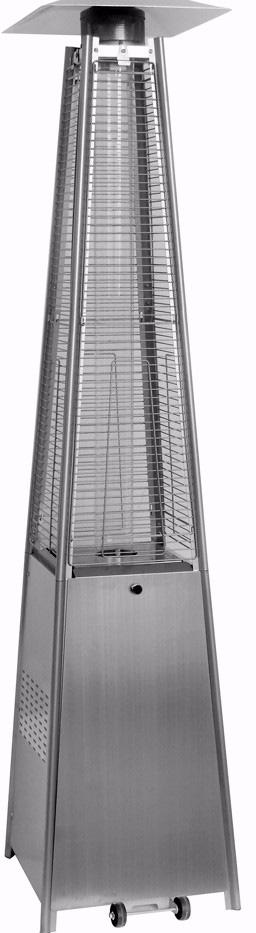 Aesto A06 - уличный газовый обогреватель (Silver)