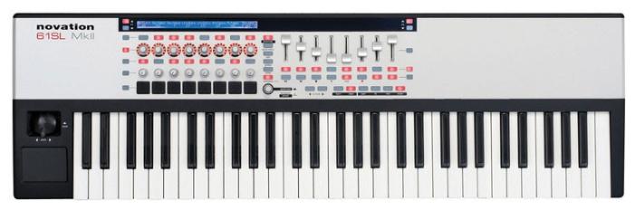 Novation 61 SL mk II (A048853) - миди-клавиатура (White/Black)MIDI-контроллеры и клавиатуры<br>Миди-клавиатура<br>