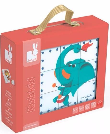 Janod Цирковые животные (J02817) - кубики (Multicolor)Развивающие игрушки<br>Кубики<br>