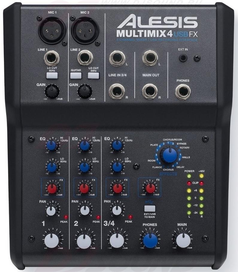 MultiMix микшерный пульт alesis multimix 6fx