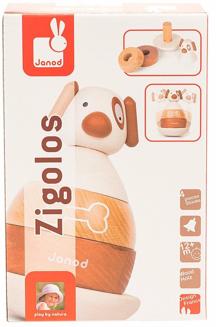 Janod Собачка (J08111) - игрушка - пирамидка (Brown)
