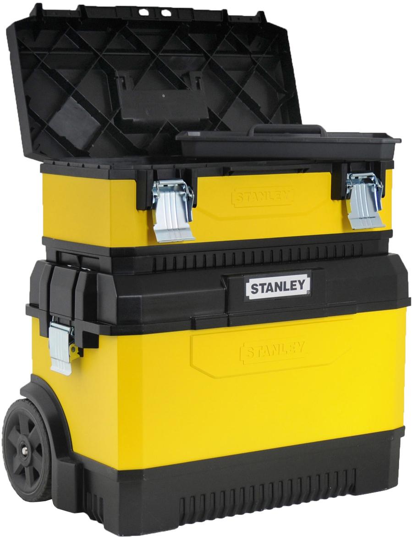 Stanley 1-95-831 - двухсекционный ящик для инструментов с колесами (Yellow/Black)