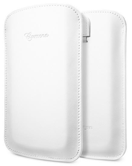 SGP Crumena Leather Pouch (SGP10187) - чехол для Samsung Galaxy S4 (White) от iCover
