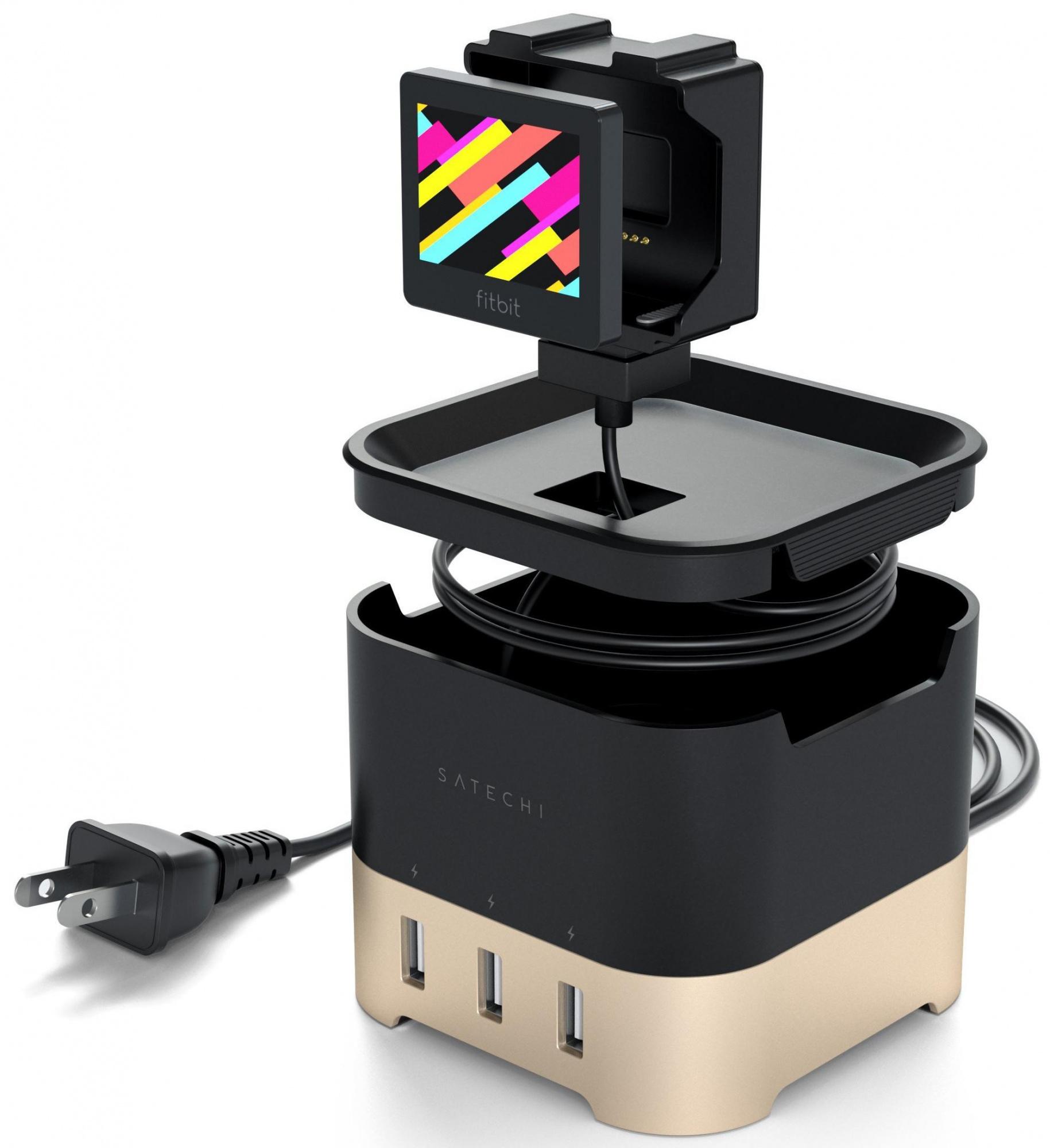Док-станция Satechi Smart Charging Stand (ST-AWCSG) для Apple Watch/Series 2/3, iPhone, FitBit Blaze (Gold)