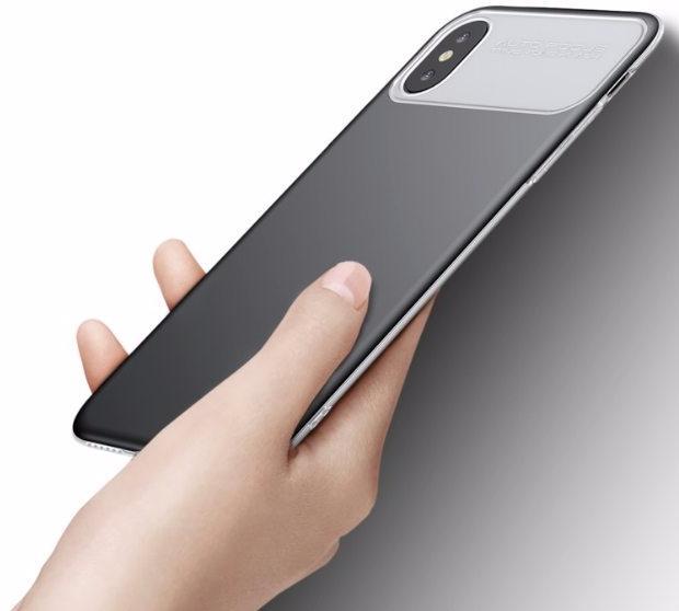 Чехол Baseus Slim Lotus Case (WIAPIPHX-QF01) для Apple iPhone X (Black)