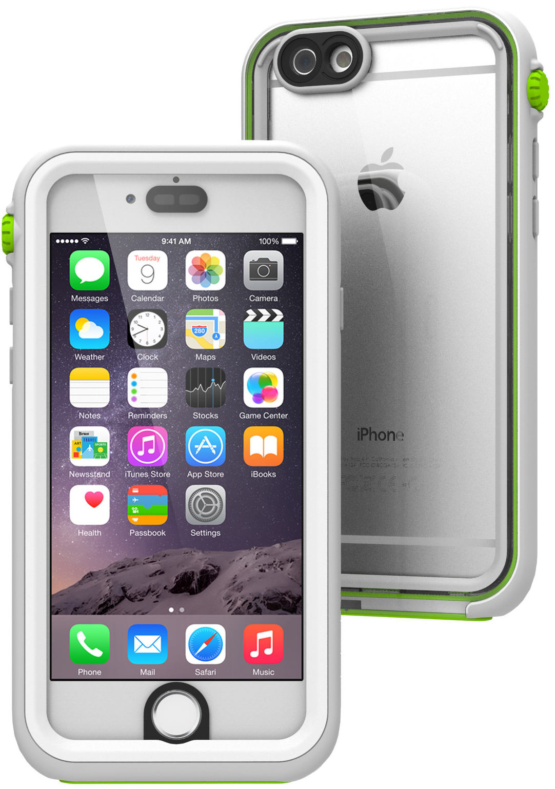 Catalyst Waterproof (CATIPHO6GRE) - водонепроницаемый чехол для iPhone 6/6S (White//Light Gray/Green)