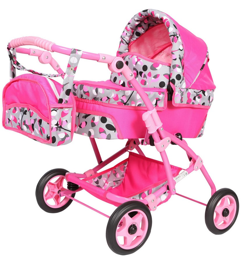 Wakart Юля (GL000105708) - коляска для кукол (Pink/Grey) от iCover
